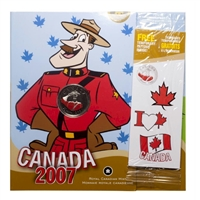 2007 Canada Day Coloured 25 Cents & Kids' Activity Set