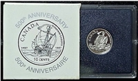1997 Canada 10-cent Voyage of John Cabot Anniversary Proof Sterling Silver