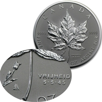 2005 Canada Privy Mark Tulip 1oz. Silver Maple Leaf (TAX Exempt)