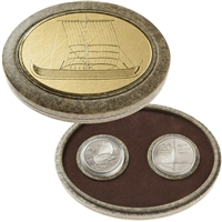 1999 Canada $5 The Viking Settlement Cupronickel 2-Coin Set (Worn Sleeve)