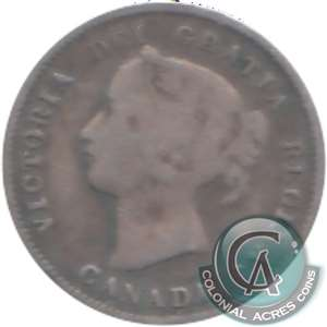 1870 Wide Rim Canada 5-cents Very Good (VG-8)