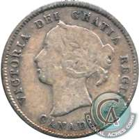 1870 Wide Rim Canada 5-cents VG-F (VG-10)