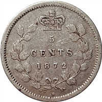 1872H Canada 5-cents Very Fine (VF-20) $