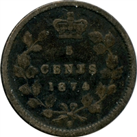 1874H Crosslet 4 Canada 5-cents About Good (AG-3)