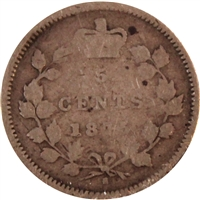1875H Large Date Canada 5-cents Very Good (VG-8)