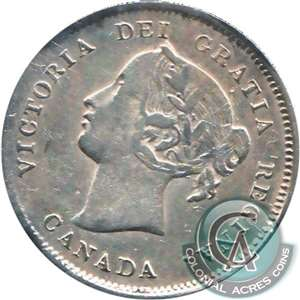1880H Obv. 3 Canada 5-cents Very Fine (VF-20)