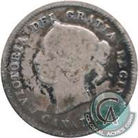 1880H Obv. 3 Canada 5-cents Good (G-4)
