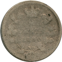 1880H Obv. 3 Canada 5-cents About Good (AG-3)