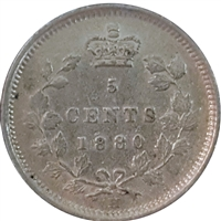 1880H Obv. 3 Canada 5-cents VF-EF (VF-30) $