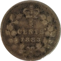 1883H Canada 5-cents Fine (F-12) $
