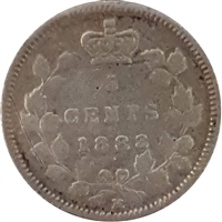 1883H Canada 5-cents F-VF (F-15)