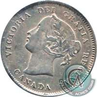 1886 Large 6 Canada 5-cents Very Fine (VF-20) $