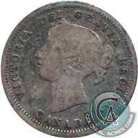 1886 Large 6 Canada 5-cents G-VG (G-6)