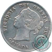 1891 Obv. 5 Canada 5-cents F-VF (F-15)