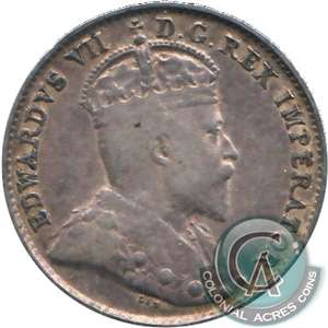 1907 Canada 5-cents F-VF (F-15)