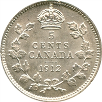 1912 Canada 5-cents Uncirculated (MS-60)