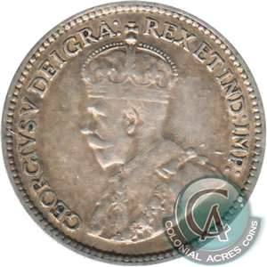 1914 Canada 5-cents F-VF (F-15)