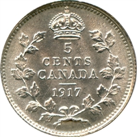 1917 Canada 5-cents Brilliant Uncirculated (MS-63) $