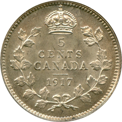 1917 Canada 5-cents UNC+ (MS-62) $