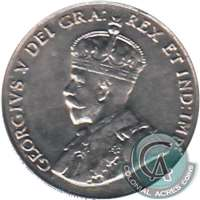 1922 Far Rim Canada 5-cents EF-AU (EF-45)