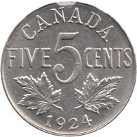 1924 Canada 5-cents Uncirculated (MS-60) $