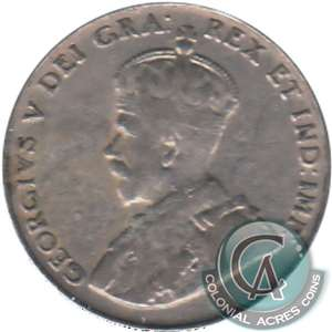 1925 Canada 5-cents VG-F (VG-10) $