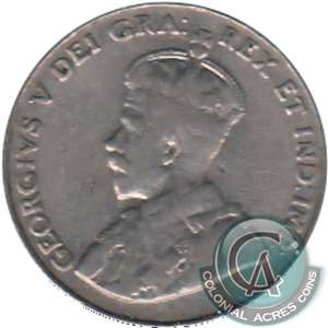 1929 Canada 5-cents Very Good (VG-8)