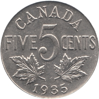 1935 Canada 5-cents Uncirculated (MS-60)