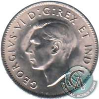 1940 Canada 5-cents UNC+ (MS-62)