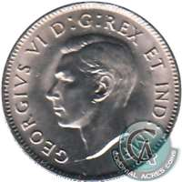 1942 Nickel Canada 5-cents Brilliant Uncirculated (MS-63) $