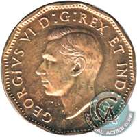 1943 Tombac Canada 5-cents Choice Brilliant Uncirculated (MS-64)