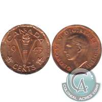 1943 Tombac Canada 5-cents Uncirculated (MS-60)