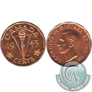 1943 Tombac Canada 5-cents Brilliant Uncirculated (MS-63)
