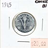 1945 Canada 5-cents Choice Brilliant Uncirculated (MS-64)