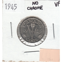 1945 No Chrome Canada 5-cents Very Fine (VF-20)