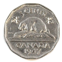 1947 Canada 5-cents Very Fine (VF-20)
