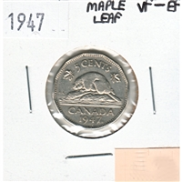 1947 Maple Leaf Canada 5-cents VF-EF (VF-30)