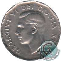 1950 Canada 5-cents Circulated