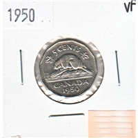 1950 Canada 5-cents Very Fine (VF-20)