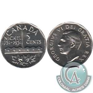 1951 Refinery Canada 5-cents Brilliant Uncirculated (MS-63)