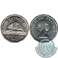 1962 Canada 5-cents Choice Brilliant Uncirculated (MS-64)