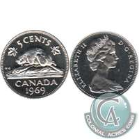 1969 Canada 5-cents Proof Like