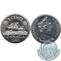 1969 Canada 5-cents Brilliant Uncirculated (MS-63)