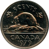 1979 Canada 5-cents Proof Like