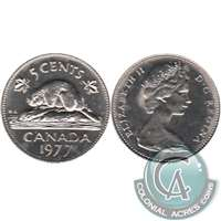 1977 Low 7 Canada 5-cents Brilliant Uncirculated (MS-63)