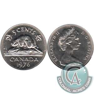 1976 Canada 5-cents Brilliant Uncirculated (MS-63)