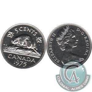 1975 Canada 5-cents Proof Like