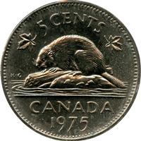 1975 Canada 5-cents Brilliant Uncirculated (MS-63)