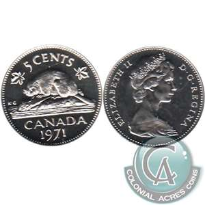 1971 Canada 5-cents Proof Like