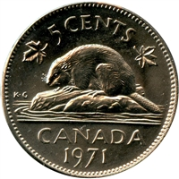 1971 Canada 5-cents Brilliant Uncirculated (MS-63)